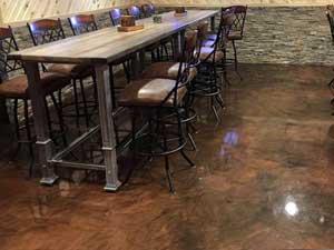 decorative concrete floor