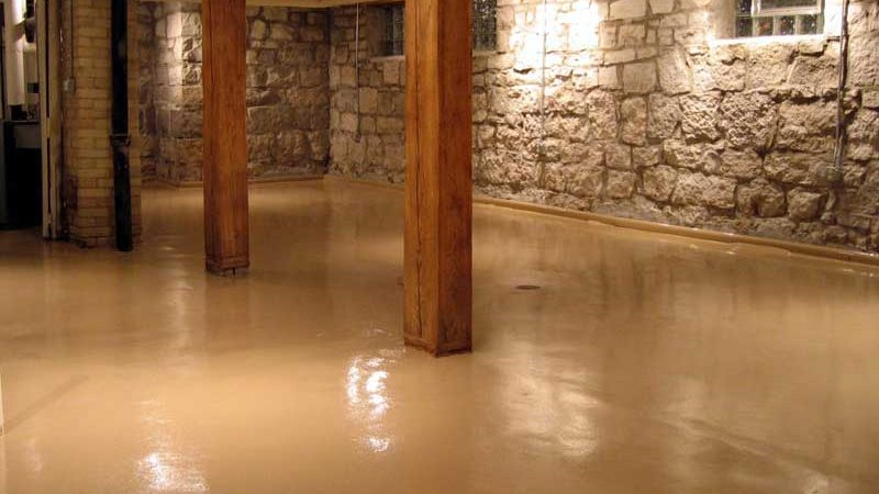 basement-with-beige-concrete-resurfacing-tampa-fl